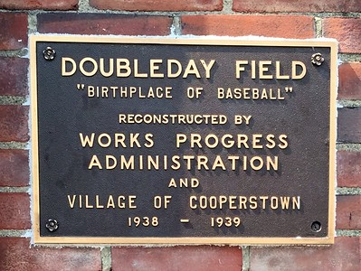 WPA Plaque at Doubleday Field
