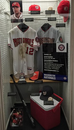 Washington Nationals Display at the National Baseball Hall of Fame & Museum