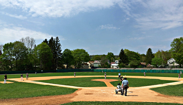 Sunday morning ballgame at Doubleday Field