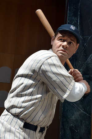 Babe Ruth sculpture by Sculptor Armand LaMontagne of Sciatuate, Rhode Island in the Hall of Fame Gallery