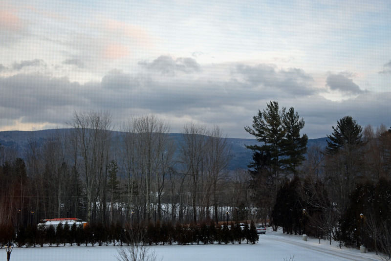 View from the room at the Taconic Hotel in Manchester, VT
